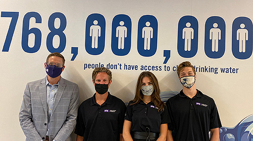 Section Image: Dr. Brad Harris, Brennan Holt, Cassie Trosino and Hayden Hite